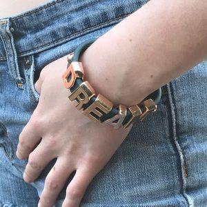 BCBG Dream Affirmation Bracelet Rose Gold Blue